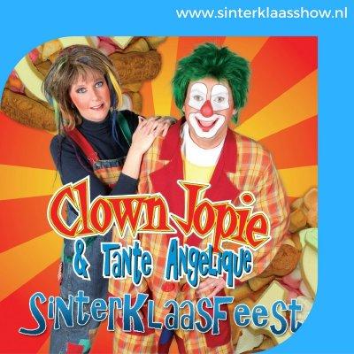 Muziek knalt de zaal in met Clown Jopie & Tante Angelique
