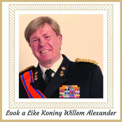 Look a Like Koning Willem Alexander exclusief bij JB Productions