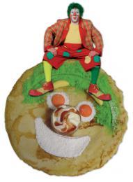 Peter Pan bakt de eerste Clown Jopie Pannenkoek