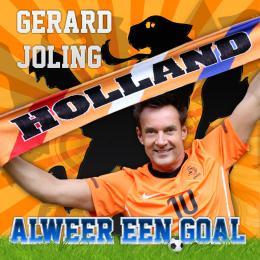 Gerard Joling scoort tijdens WK