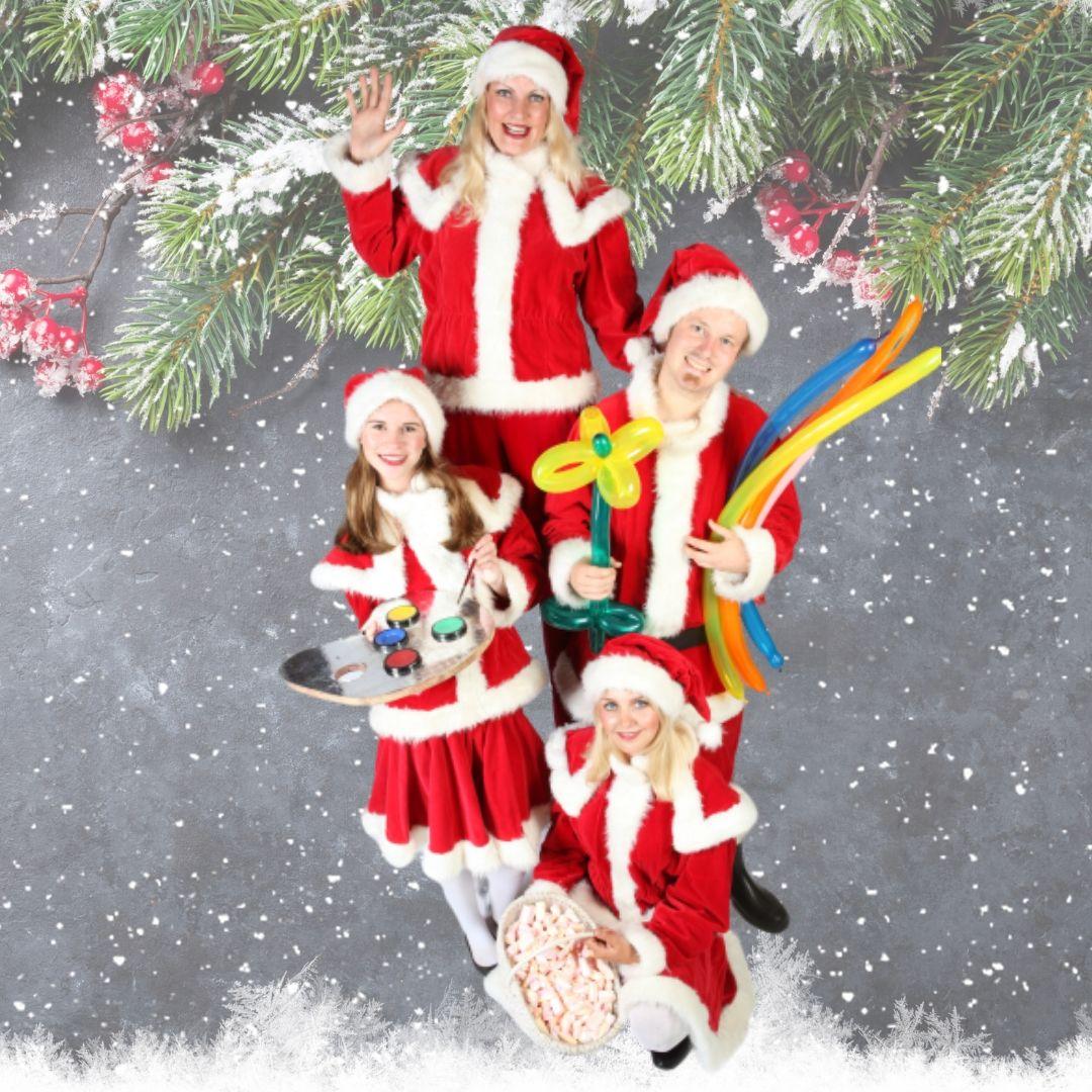 Het Te Gekke Kerst Team - 4 personen inhuren of boeken | Sint en Kerst