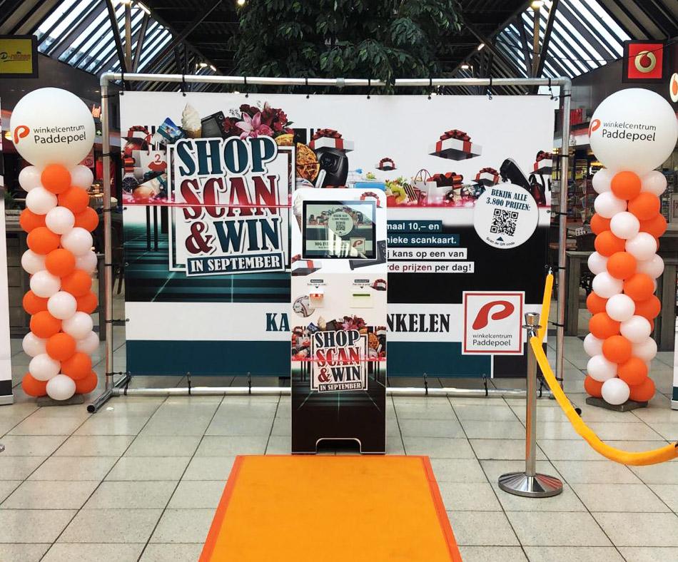 Scan & Win Winkelcentrumpromotie huren | JB Productions