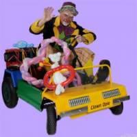 Clown Opie met autootje