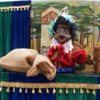 Stoffen Poppenkast - Sinterklaasshow