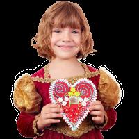 Koekhart voor Valentijnsdag versieren