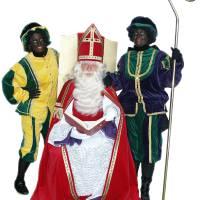 Bezoek Sinterklaas - Sinterklaas en 2 Zwarte Pieten
