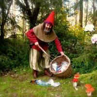 Kabouter Zibbedeüs maakt het bos schoon