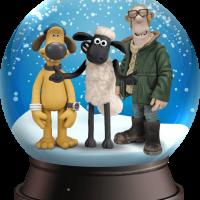 Snowglobe met Shaun en Bitzer
