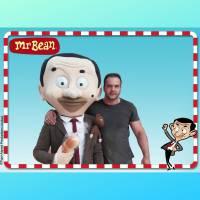 Op de foto met Mr. Bean