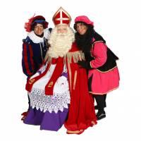 Bezoek Sinterklaas en 2 Roetveeg Pieten