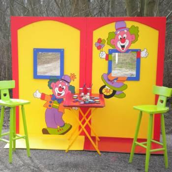 De Clowns Schminkstand inhuren of boeken?
