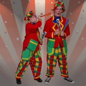 Toet en Tetter de Feesttoeter Clowns Boeken of Inhuren?