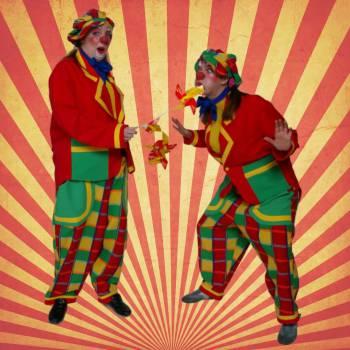 Waai en Woei de Windmolen Clowns - Uitdeelactie Boeken of Inhuren?