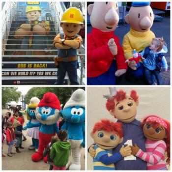 Stripfigurenparade boeken of inhuren