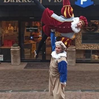 Acrobaat Zwarte Pieten inhuren of boeken
