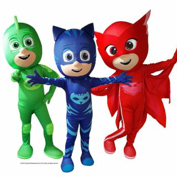 Meet & Greet PJ Masks Boeken of Inhuren?