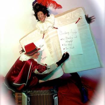 Wandelend Sinterklaasboek met Muzikale Piet boeken of inhuren
