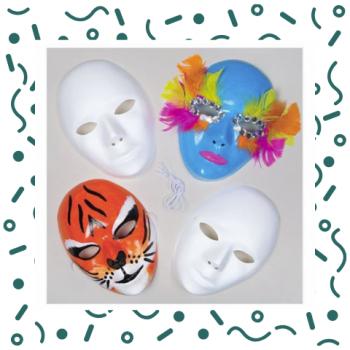 Kids Workshop - Maskers Versieren Boeken of Inhuren?
