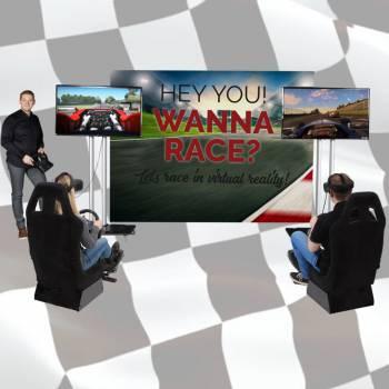 VR F1 Racesimulators Boeken of Inhuren?