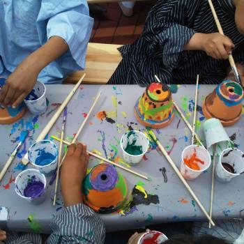 Kids Workshop Bloempot Schilderen huren