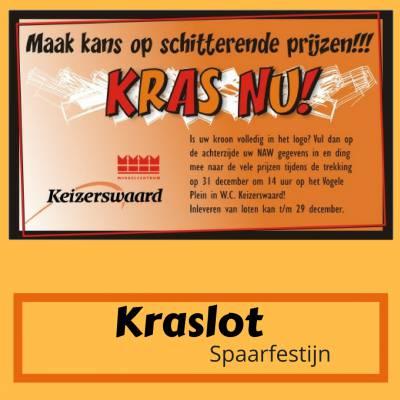 Kraslot Spaarfestijn inhuren of boeken? | JB Productions