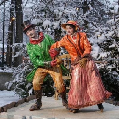 Nostalgisch Schaatspaar boeken of inhuren | Sint en Kerst