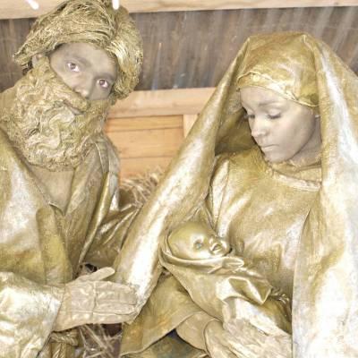 Levende Standbeelden Jozef en Maria