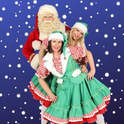 Bezoek Kerstman en 2 Kerstvrouwtjes inhuren of boeken | Sint en Kerst
