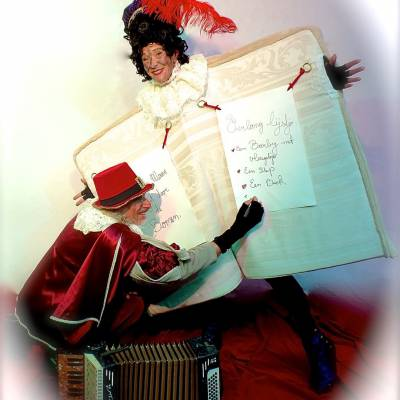 Wandelend Sinterklaasboek met Muzikale Piet boeken of inhuren | SintenKerst