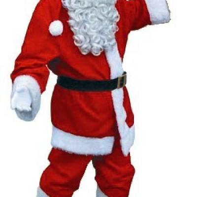 Luxe kerstman kostuum huren | Sint en Kerst
