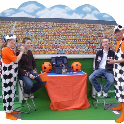 Schminkstand Oranje inhuren of boeken? | JB Productions