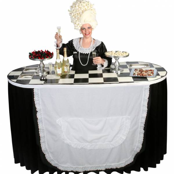 Miss Mable Table - Serveerster boeken of inhuren? | JB Productions