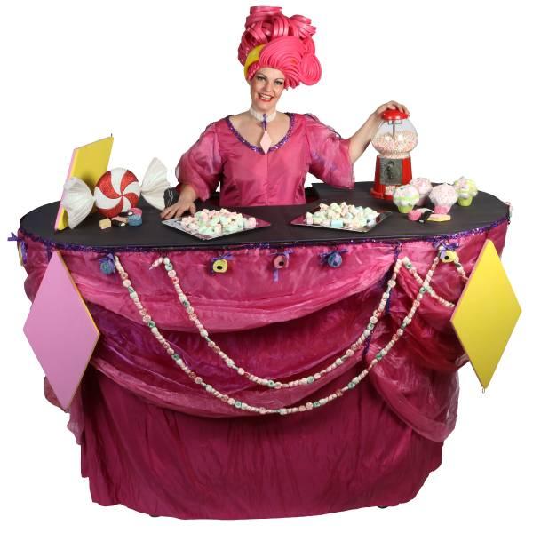 Miss Mable Table - Snoepjes inhuren of boeken? | JB Productions