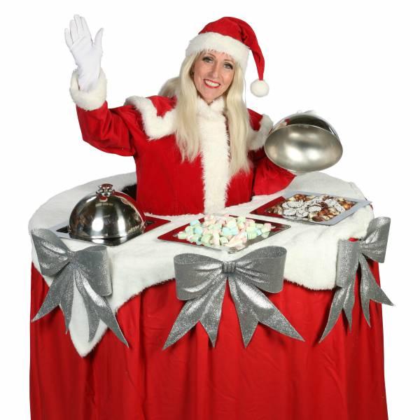 Walking Christmas Table inhuren of boeken? | Artiestenbureau JB Productions