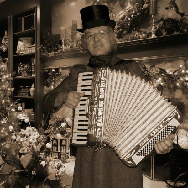 Dickens Accordeonist Hans inhuren of boeken | Sint en Kerst