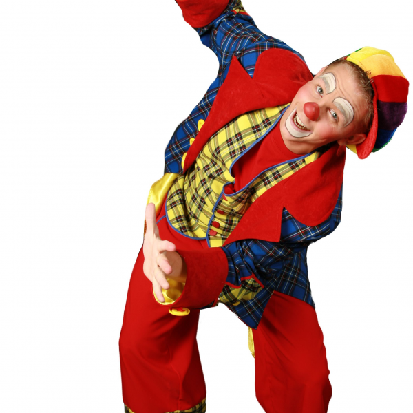Clown Noni Knallende Kindershow inhuren of boeken | JB Productions