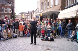 Straattheater van Nederlands Kampioen Jongleren