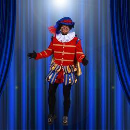 Zwarte Pieten Kostuum - Hoofd Piet - Zeer Luxe - Rood
