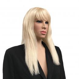 Blonde Pruik Met Pony   Partyspecialist.nl
