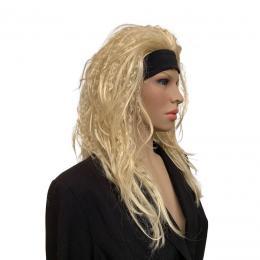 Blonde Pruik: Lang Met Wafel en Haarband | Partyspecialist.nl