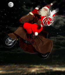 Rudolph & Santa