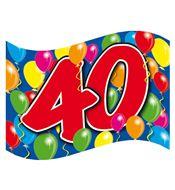 Gevelvlag 40 jaar bestellen | Partyspecialist.nl