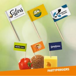 Partyprikkers uitdeel actie met kaas