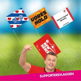 Supportersvlaggen - Uitdeelactie