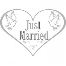 Deurbord Just Married | Partyspecialist.nl