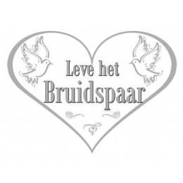 Deurbord Leve het Bruidspaar | Partyspecialist.nl