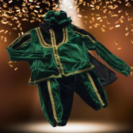 Luxe Zwarte Pieten Kostuum Groen-Zwart huren | SintenKerst