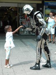 Robotact Mr. Universe the Robotman boeken of inhuren | JB Productions
