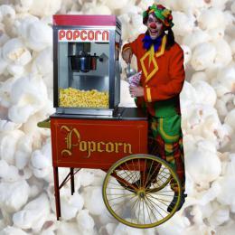 Popcorn uitdeel attractie | JB Productions