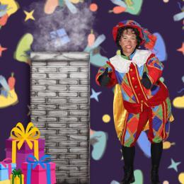 Schoorsteen spel met Zwarte Piet huren
